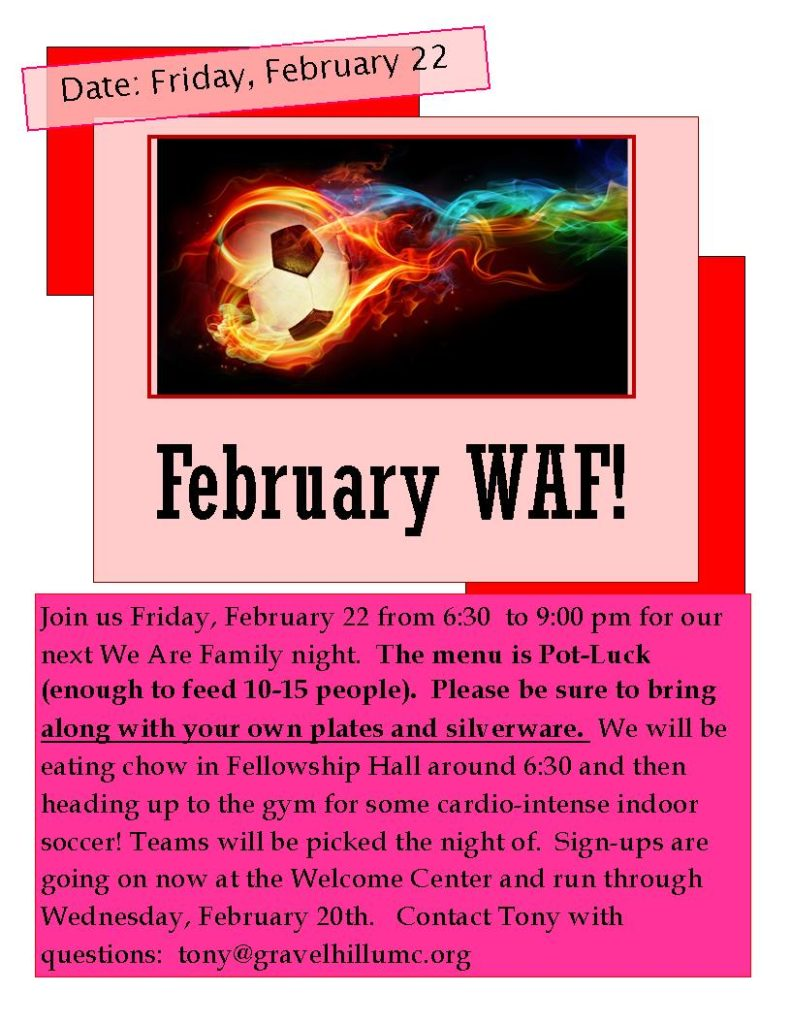 February WAF 2019: Indoor Soccer